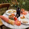 Coral Wachstuch Set Picknick