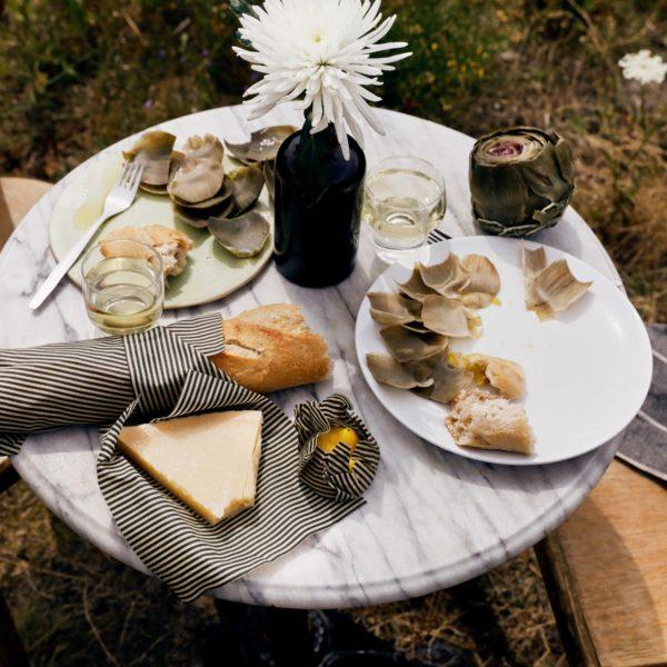 Marine Wachstuch Set Picknick
